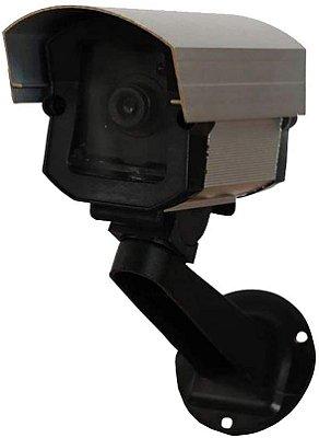 Câmera falsa anodizada com led