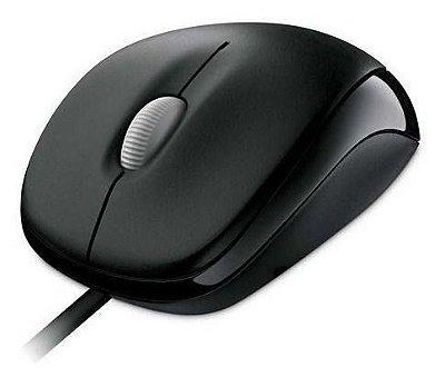 Mouse com fio Microsoft, Conexão USB - Preto