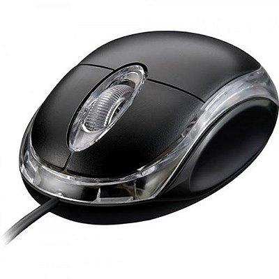 Mouse com fio Lendex com conexão USB