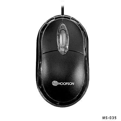 Mouse Óptico 1000Dpi, Hoopson, conexão Usb - Preto