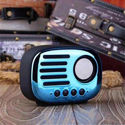 Rádio Portátil Retro A4, FM, Bluetooth
