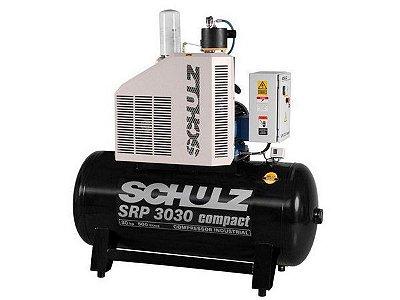 COMPRESSOR DE PARAFUSO SCHULZ SRP 3030 COMPACT 30HP 500 LITROS - 7.5 BAR