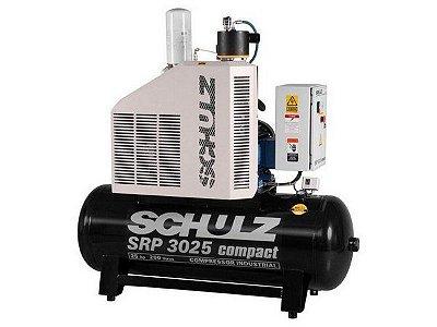 COMPRESSOR DE PARAFUSO SCHULZ SRP 3025 COMPACT 25HP 250 LITROS - 7.5 BAR