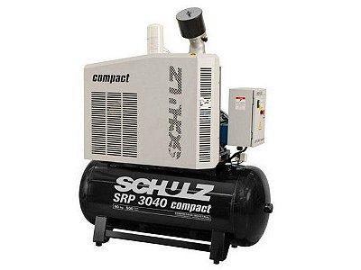 COMPRESSOR DE PARAFUSO SCHULZ SRP 3040 COMPACT 500 LITROS 40HP - 9 BAR