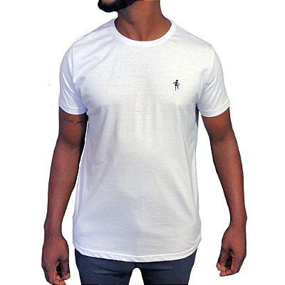 Camiseta Básica Branca Bordada