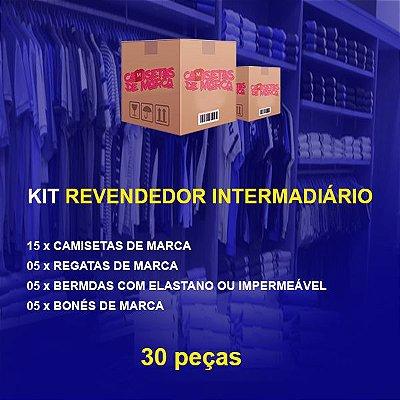 Kit Revendedor Intermediário 15 Camisetas + 05 Regatas + 05 Bermudas + 05 Bonés