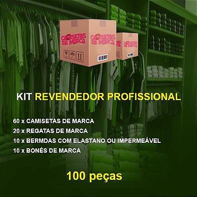 Kit Revendedor Profissional 60 Camisetas + 20 Regatas + 10 Bermudas + 10 Bonés