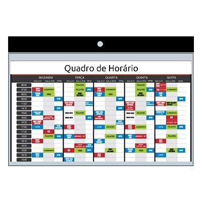 QUADRO DE AVISOS HORIZONTAL TRANSPARENTE (10 UN)