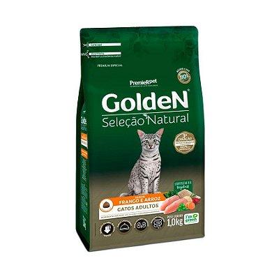 Ração Golden Seleção Natural para Gatos Adultos Sabor Frango 1kg
