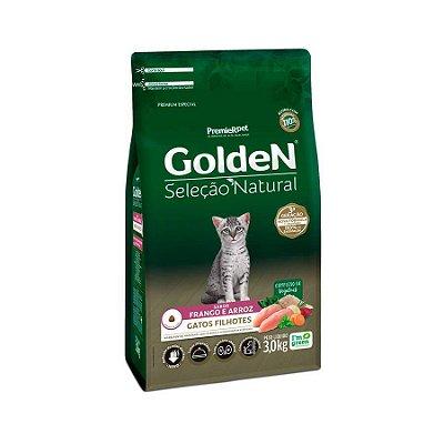 Ração Golden Seleção Natural para Gatos Filhotes Sabor Frango e Arroz 3kg