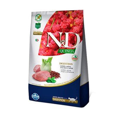 Ração Quinoa Digestion N&D para Gatos Adultos sabor Cordeiro 1,5kg