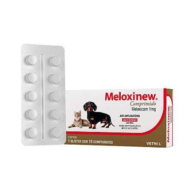 Anti-inflamatório Meloxinew 10 Comp para Cães e Gatos 1mg