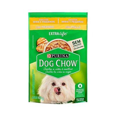 Ração Úmida Dog Chow Sabor Frango para Cães Adultos de Raças Pequenas - 100g