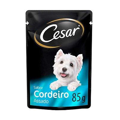 Ração Úmida Cesar Sachê para Cães Adultos Sabor Cordeiro 85g