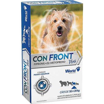 Antipulgas e Carrapatos Word Veterinária ConFront Plus para Cães de 10 a 20 Kg