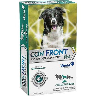 Antipulgas e Carrapatos Word Veterinária ConFront Plus para Cães de 20 a 40 Kg