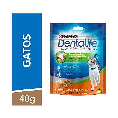 Snack Purina Dentalife para Gatos Sabor Frango 40g