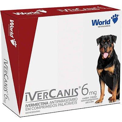 Antiparasitário  IverCanis 6 mg para Cães de 30 Kg