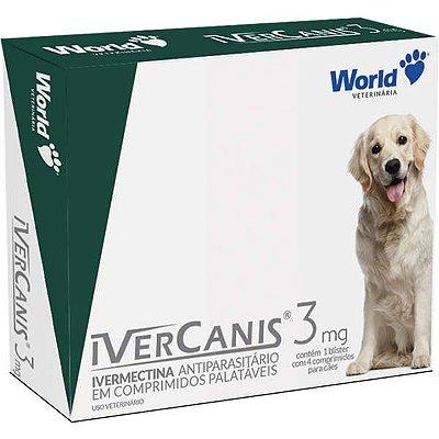 Antiparasitário IverCanis 3 mg para Cães de 15 Kg