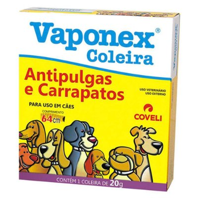 Coleira Antiparasitas Coveli Vaponex para Cães