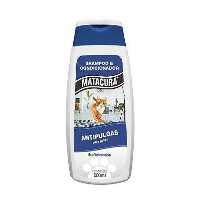 Shampoo e Condicionador Antipulgas Matacura para Gatos 200ml