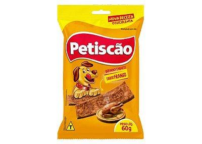 Bifinho Mastigável Tablete Petiscão Sabor Frango 60g