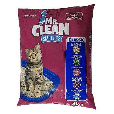 Mr. Clean Classic - Areia Sanitária Granulado Gatos 4 Kg