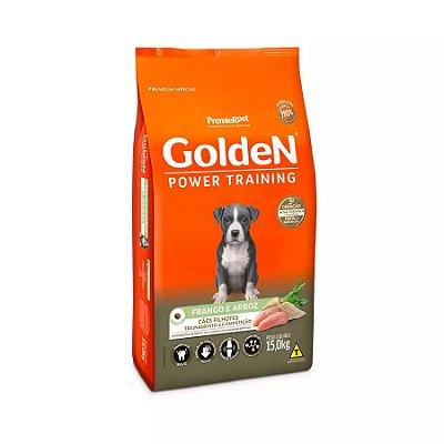 Ração Golden Power Training Filhote para Cães Sabor Frango e Arroz - 15kg