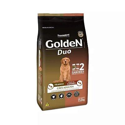 Ração Golden Duo Cães Adultos Sabor Frango e Carne 15kg