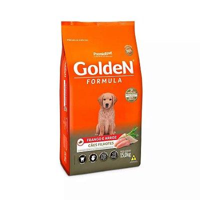 Ração Golden Filhote Sabor Frango e Arroz para Cães 15kg