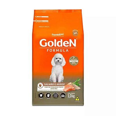 Ração Golden Fórmula Mini Bits para Cães Adultos de Pequeno Porte Sabor Salmão e Arroz 1kg