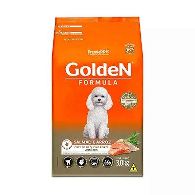 Ração Golden Fórmula Mini Bits para Cães Adultos de Pequeno Porte Sabor Salmão e Arroz 3kg