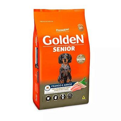 Ração Golden Fórmula Mini Bits Senior para Cães Adultos de Pequeno Porte Sabor Frango e Arroz 10,1kg