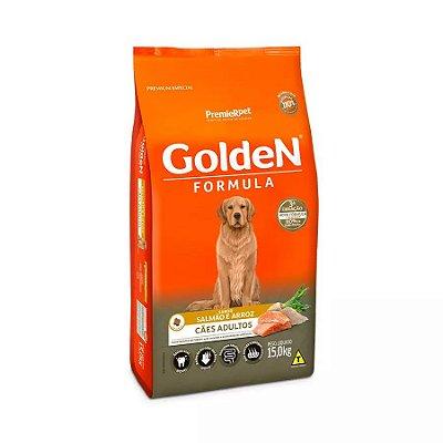 Ração Golden Fórmula para Cães Adultos Sabor Salmão e Arroz 15kg