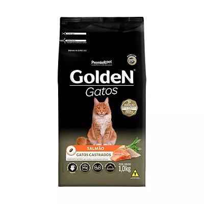 Ração Golden para Gatos Adultos Castrados Sabor Salmão 1kg