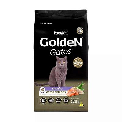 Ração Golden para Gatos Adultos Sabor Salmão 10,1 kg