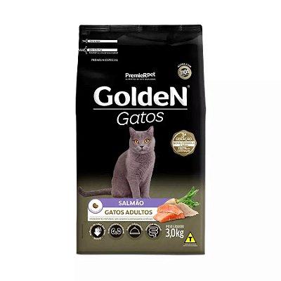 Ração Golden para Gatos Adultos Sabor Salmão 3kg