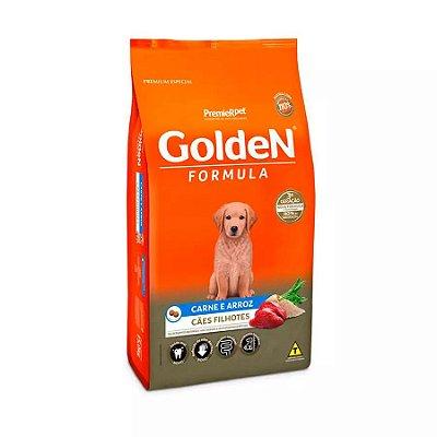 Ração Golden Formula Filhote Cães Sabor Carne e Arroz 3kg