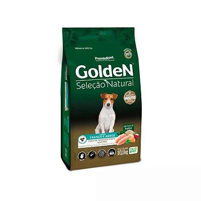 Ração Golden Seleção Natural para Cães Adultos de Raças Pequenas Mini Bits 10,1kg