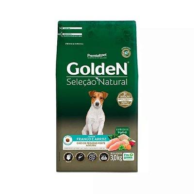 Ração Golden Seleção Natural para Cães Adultos de Raças Pequenas Mini Bits 3kg