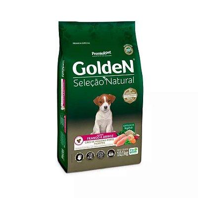Ração Golden Sel Nat Cães Filhotes de Raças Pequenas Mini Bits Sabor Frango e Arroz 10kg