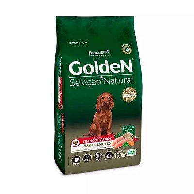 Ração Golden Seleção Natural para Cães Filhotes Sabor Frango 15kg