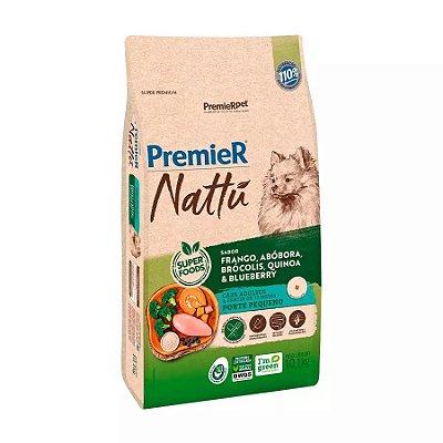 Ração Premier Nattu para Cães Adultos de Raças Pequenas Sabor Abóbora 10kg