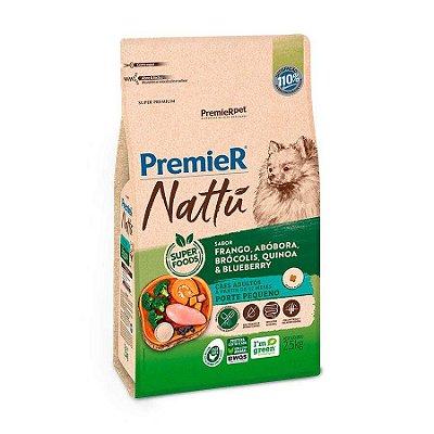 Ração Premier Nattu para Cães Adultos de Raças Pequenas Sabor Abóbora 2,5kg