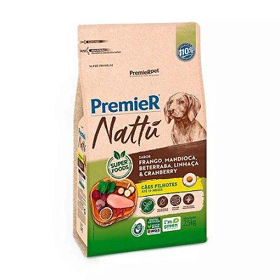 Ração Premier Nattu para Cães Filhotes Sabor Mandioca 2,5kg