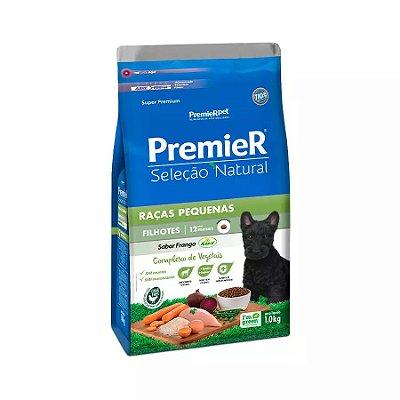 Ração Premier Seleção Natural para Cães Filhotes Raças Pequenas Sabor Frango Korin 1kg