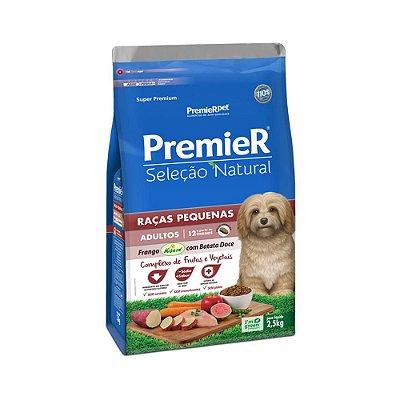 Ração Premier Seleção Natural para Cães Raças Pequenas Frango com Batata Doce 2,5kg