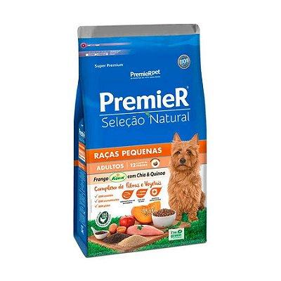 Ração Seleção Natural Premier para Cães Adultos Raças Pequenas sabor Frango com Chia e Quinoa 10kg