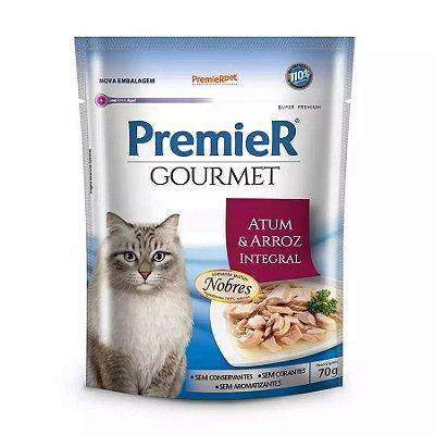 Ração Úmida Premier Gourmet Para Gatos Sabor Atum E Arroz Integral 70g
