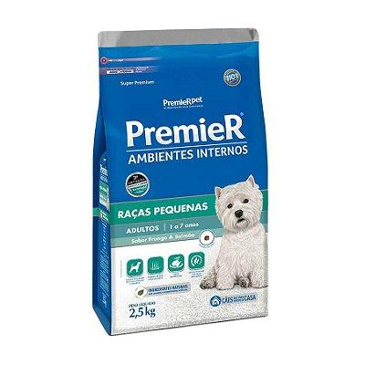 Ração Premier Ambientes Internos Para Cães Adultos Sabor Frango E Salmão 2,5kg
